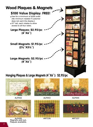 Picture of Display for Magnets & Plaques & how to order