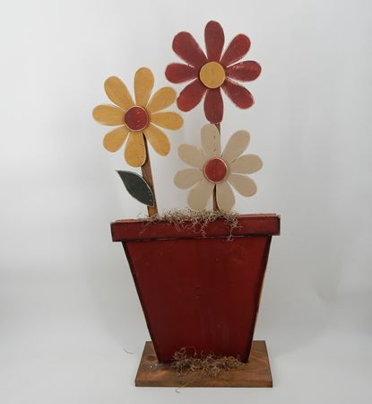 Picture for category Garden wood flower with base standing