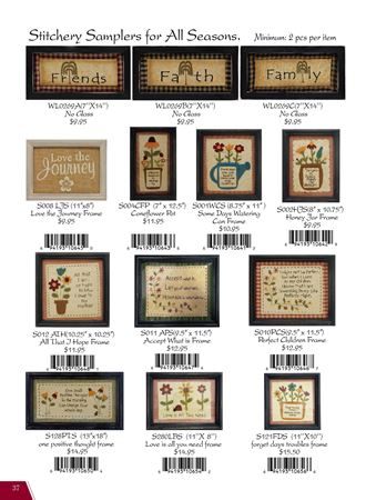 Picture for category Stitchery Samplers for All Seasons