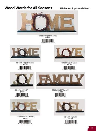 Picture for category Wood Words for Home Decor
