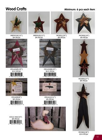 Picture for category Country Wood & Tin Crafts(Stars, signs, etc)