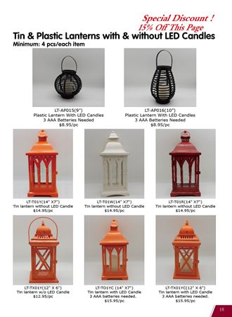Picture for category Lanterns for All Seasons(With & Without LED Candles)