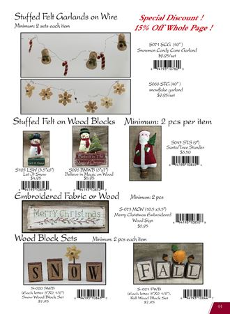 Picture for category Christmas Ornaments Made of Felt & Fabric