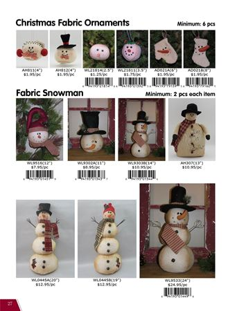 Picture for category Christmas Fabric Snowman