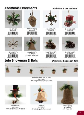 Picture for category Christmas ornaments made of straw, burlap, grape vines, etc.