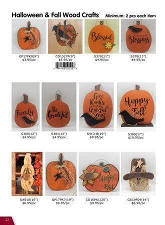 Picture for category Felt & Wood Ornaments for Fall and Halloween